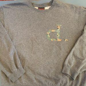 Diamond Sweatshirt size Large with Camo initial